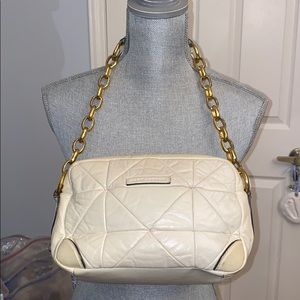 Marc Jacobs White Quilted Calfskin Leather Handbag